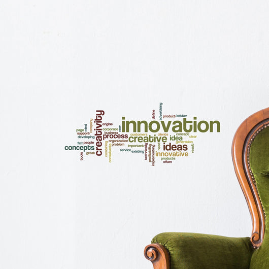 Innovation - Word Cloud Wall Decal