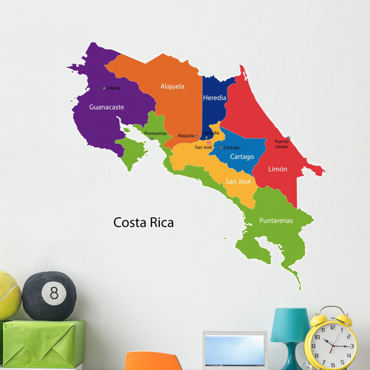 Map Republic Costa Rica