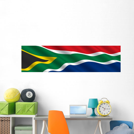 South African Flag in the Wind Wall Mural
