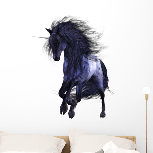 Blue Unicorn 1 Wall Decal