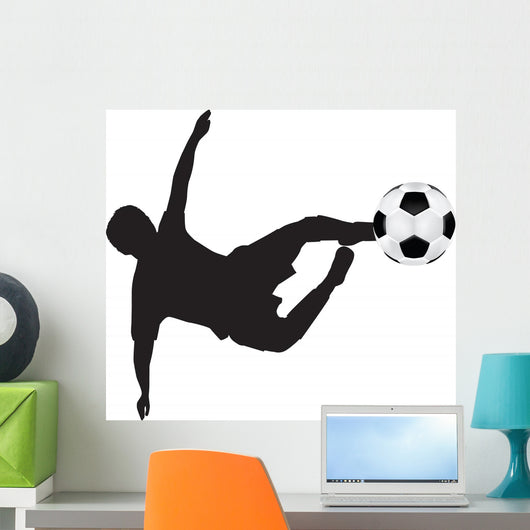 Football Silhouette Flying Kick