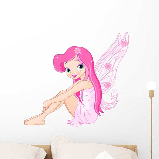 Young pink fairy Wall Decal