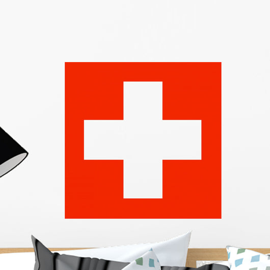 Switzerland Flag Wall Mural