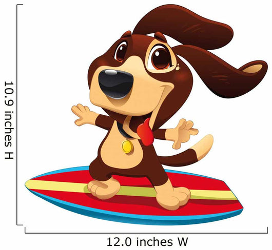 Dog With Surf Wall Decal