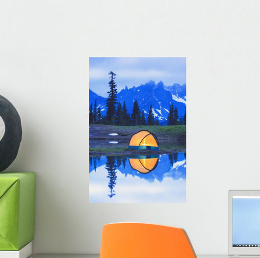Camping tent Wall Mural