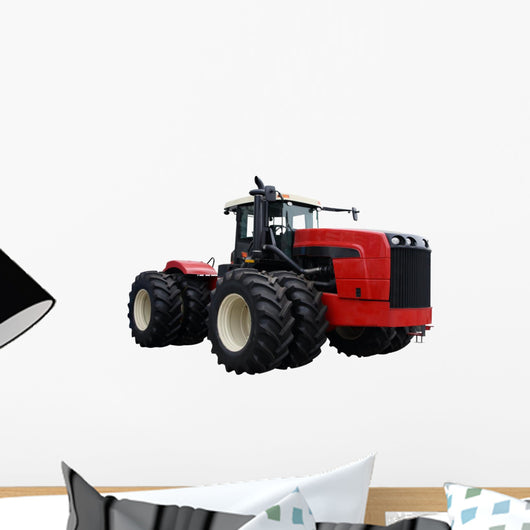 Red Tractor Wall Decal