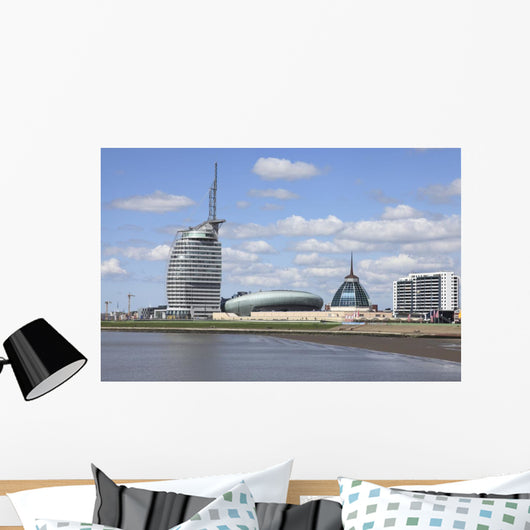 Panoramic view of Bremerhaven Wall Mural