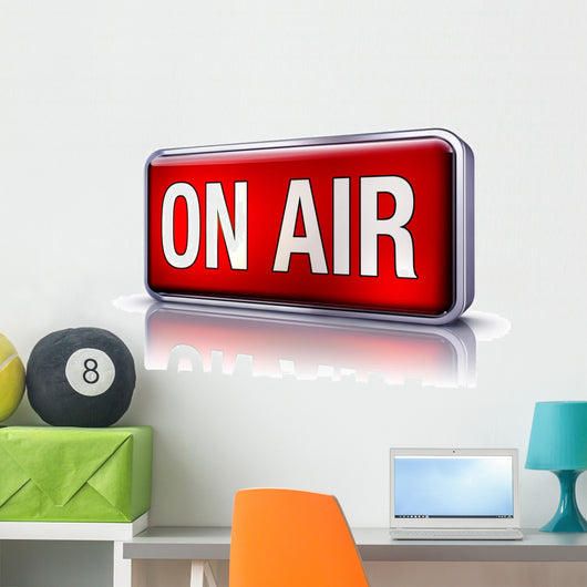 on air Wall Decal