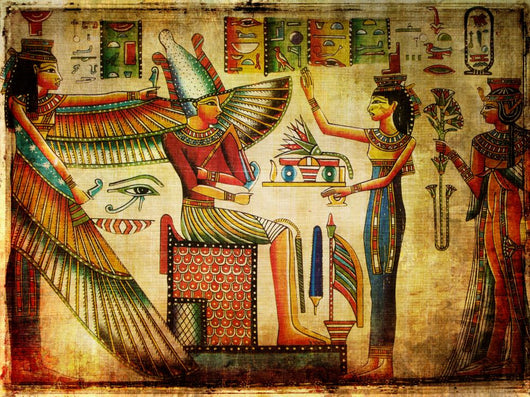 Old Egyptian Papyrus Wall Mural