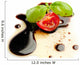 tomato and basil over olive oil and balsamic vinegar Wall Mural