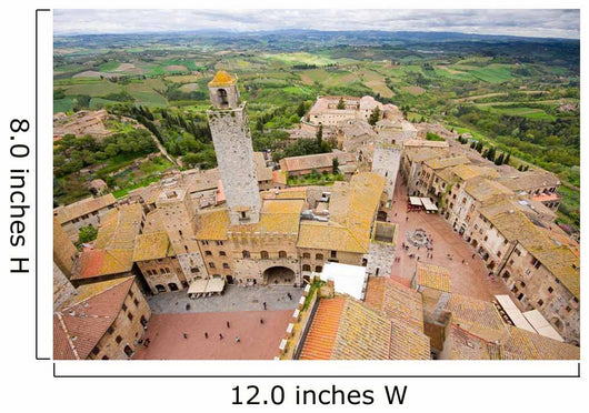 San Gimignano-Overview From the Tower Wall Mural