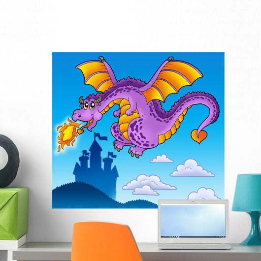 Huge Flying Dragon near