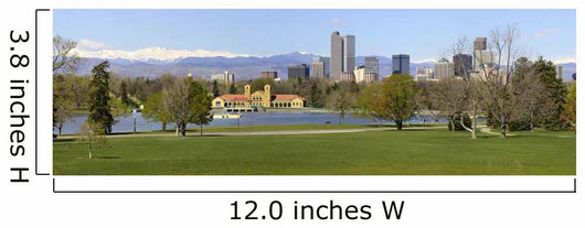 Denver Skyline From City Park Panorama Wall Mural