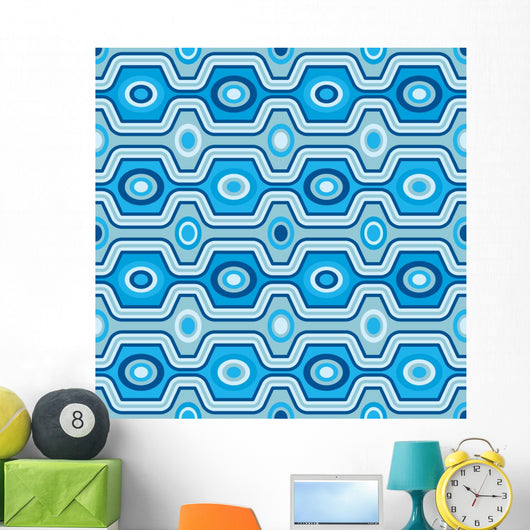 Seamless retro pattern Wall Mural