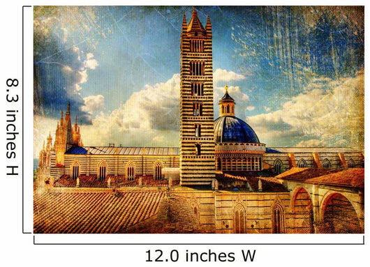 great italian landmarks  -Siena cathedral Wall Mural
