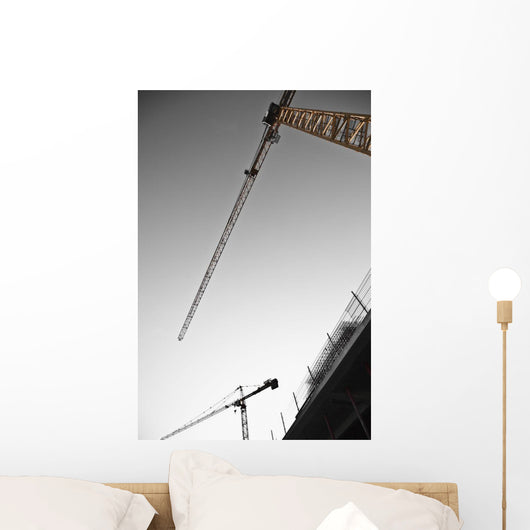 Low angle view of cranes;Monaco Wall Mural