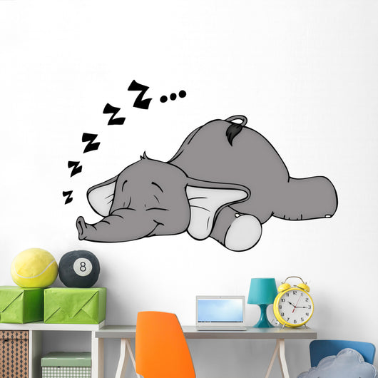 Elephant Sleep Sleep Snore Dream Wall Decal