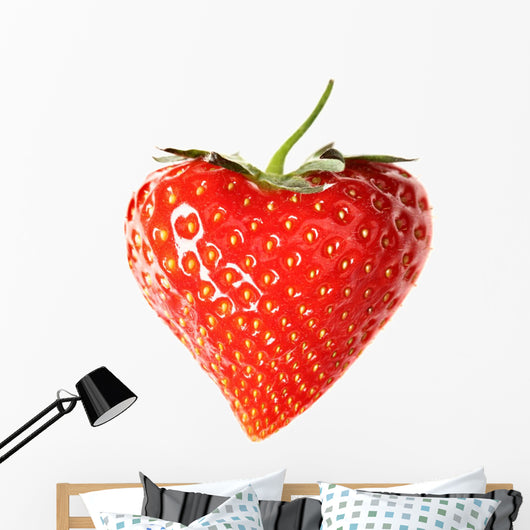 Strawberry-Heart Wall Decal