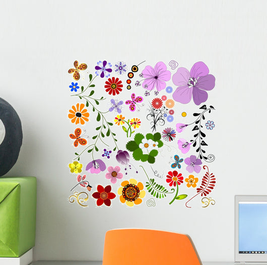 Big Collection Flowers and Wall Mural