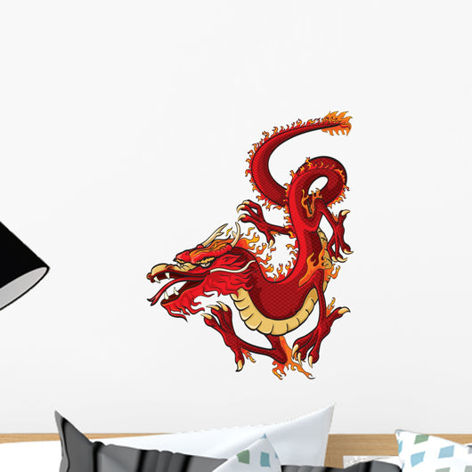 Red Dragon Wall Decal