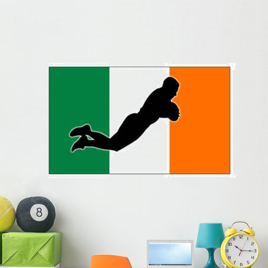 rugby try ireland Wall Mural