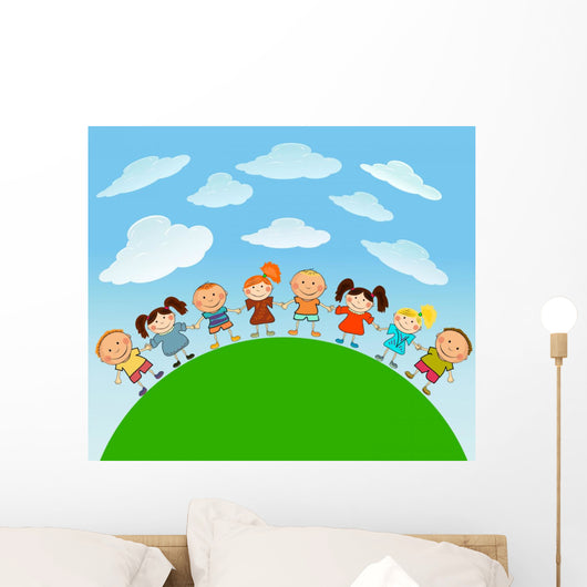 Happy Kids Wall Mural