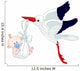 Stork and Baby Wall Decal