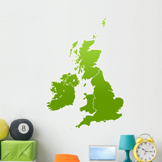 Uk and Ireland Map Wall Mural