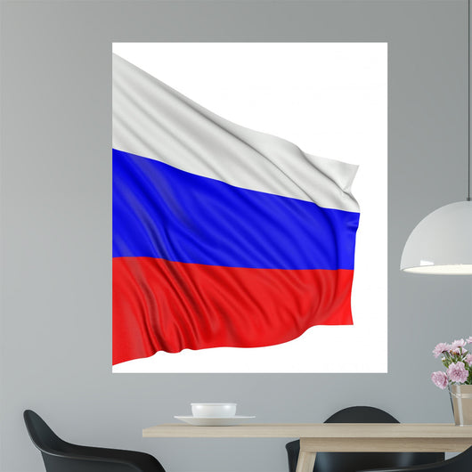 3D Russian Flag Wall Decal