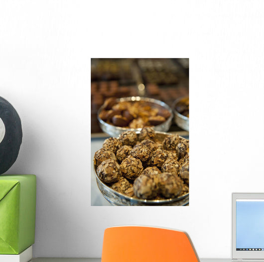 Belgium, Chocolates for sale Wall Mural