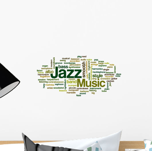 Jazz - Word Cloud Wall Decal