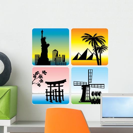 Travel Landmark Wall Mural
