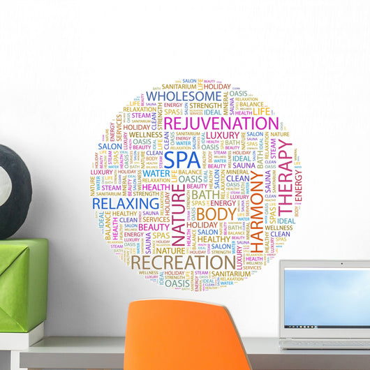 Word Cloud Concept Spa