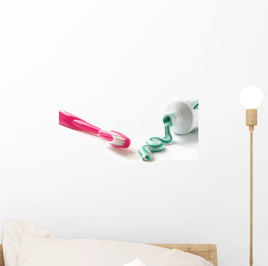 Brush with Toothpaste Wall Decal