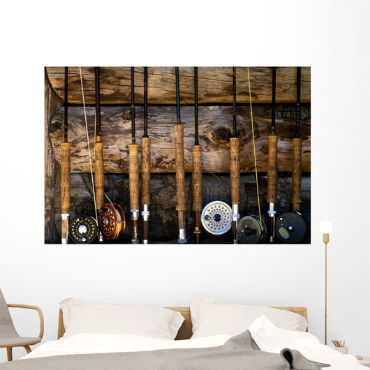 fly fishing poles 001 Wall Mural