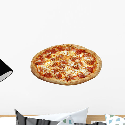 Pepperoni Pizza Isolated Wall Decal