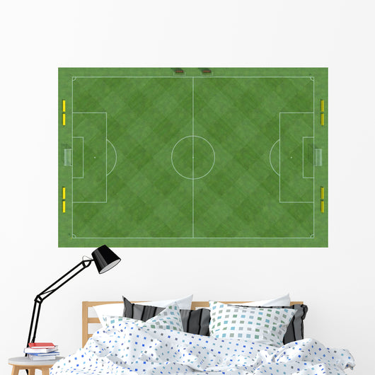 top view of a soccer field Wall Mural