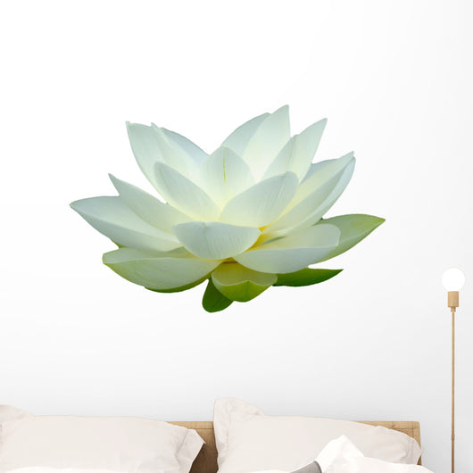White Lotus Flower Wall Decal