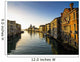 Italy, Venice, Buildings along canal at sunset Wall Mural