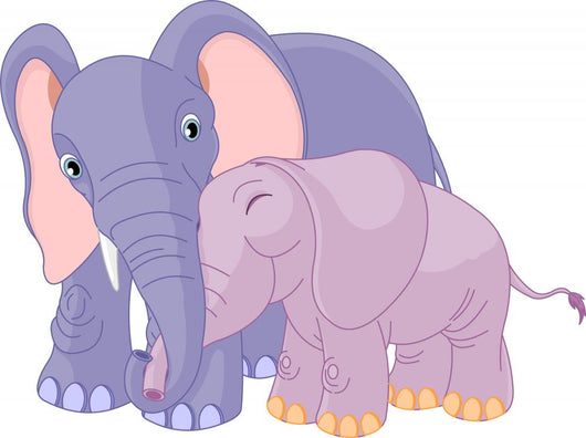 Father Elephant and Her