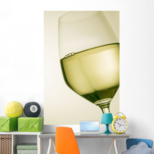 A glass of white wine Wall Mural