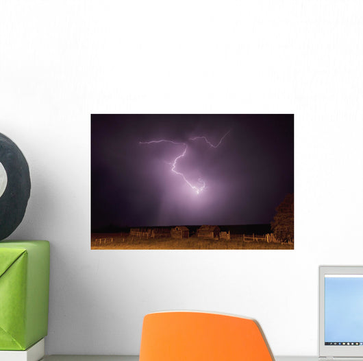 Lightning bolt Wall Mural