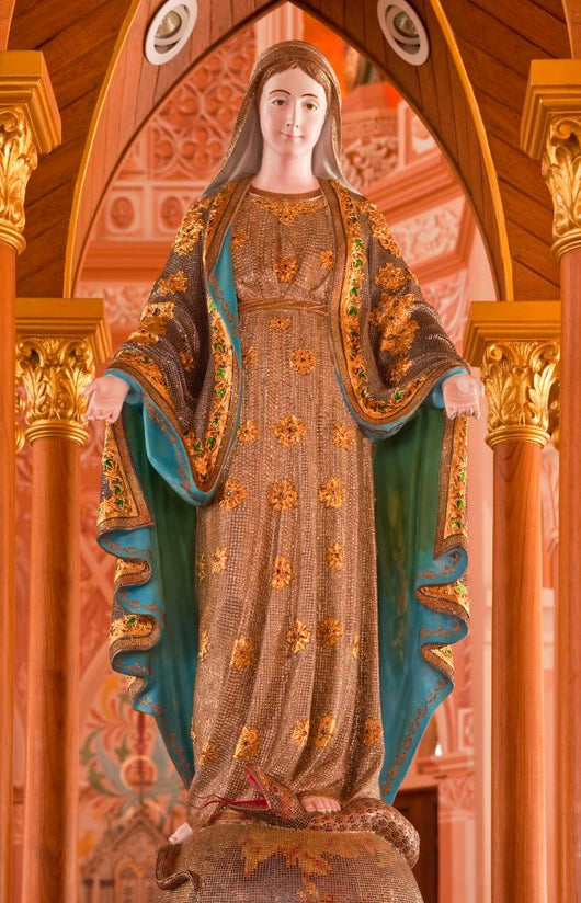 Holy Mary Statue Decorated