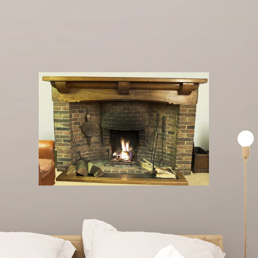 Fire-Place Wall Mural