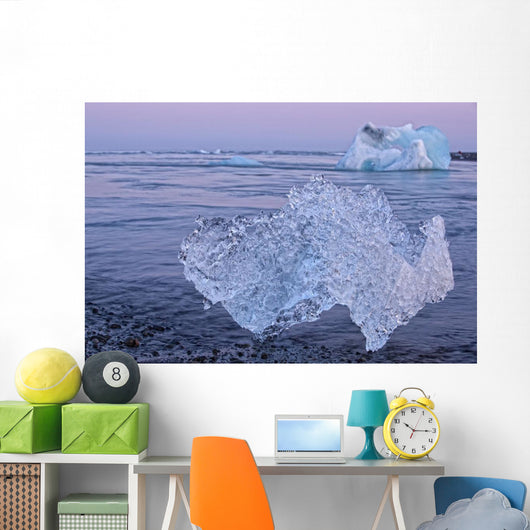 Icebergs on the shoreline of the Atlantic Ocean Wall Mural