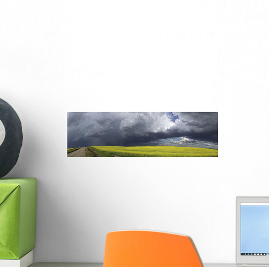 Panoramic of storm clouds gather Wall Mural