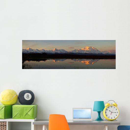 Alpenglow On Mt Mckinley Wall Mural