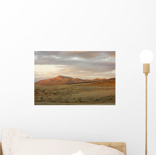 The Great Kobuk Sand Dunes Under An Arctic Midnight Sunset Wall Mural