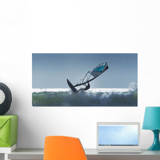 Spain, Andalusia, Wind Surfing In Cape Trafalgar Wall Mural