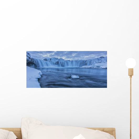 The Waterfall Godafoss In Northern Iceland Seen Wall Mural